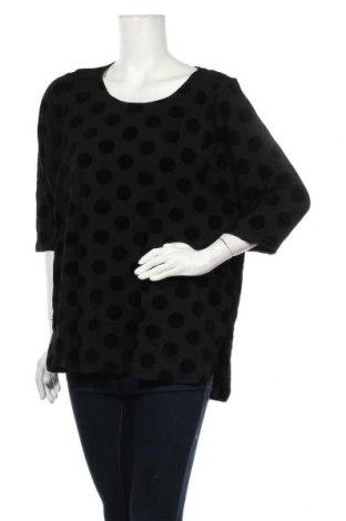 Дамска блуза Sussan, Размер XL, Цвят Черен, 50% памук, 50% вискоза, Цена 41,58лв.