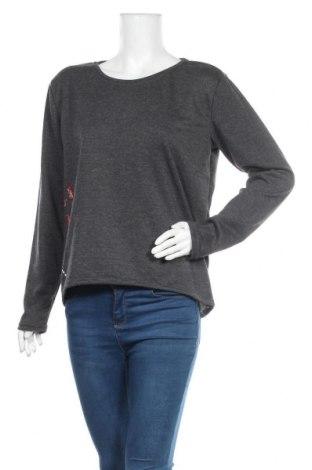 Дамска блуза Takko Fashion, Размер S, Цвят Сив, 79% полиестер, 21% памук, Цена 7,37лв.