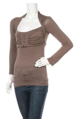 Дамска блуза Y.Yendi, Размер S, Цвят Бежов, Вискоза, Цена 4,29лв.