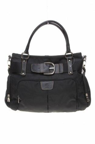 Γυναικεία τσάντα Bogner, Χρώμα Μαύρο, Κλωστοϋφαντουργικά προϊόντα, γνήσιο δέρμα, Τιμή 61,24€