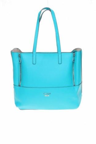 Дамска чанта Guess, Цвят Син, Еко кожа, Цена 122,85лв.
