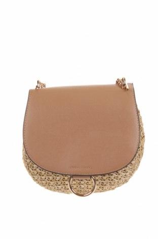 Дамска чанта H&M, Цвят Бежов, Текстил, еко кожа, Цена 13,86лв.