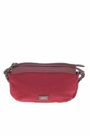 Дамска чанта JAG, Цвят Червен, Текстил, Цена 29,93лв.