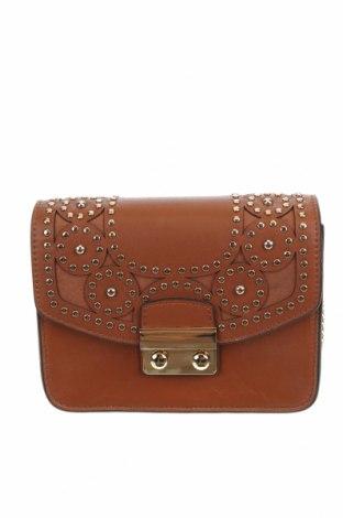 Дамска чанта Lola Cruz, Цвят Кафяв, Естествена кожа, Цена 194,25лв.