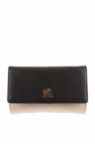 Дамска чанта Lottusse, Цвят Черен, Естествена кожа, Цена 52,92лв.