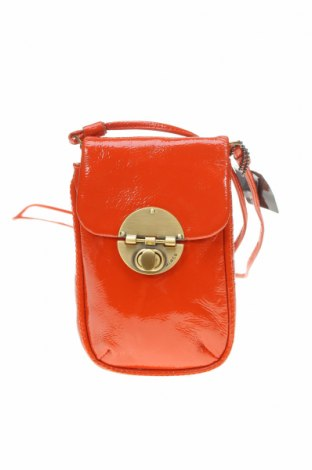 Дамска чанта Mimco, Цвят Оранжев, Естествена кожа, Цена 121,91лв.