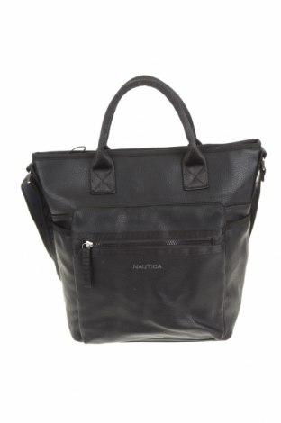 Дамска чанта Nautica, Цвят Черен, Еко кожа, текстил, Цена 65,10лв.