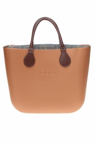Дамска чанта O bag, Цвят Кафяв, Полиуретан, Цена 104,25лв.