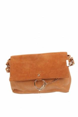 Дамска чанта Sussan, Цвят Кафяв, Еко кожа, естествен велур, Цена 14,49лв.