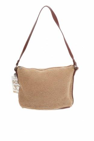 Дамска чанта The Sak, Цвят Екрю, Текстил, еко кожа, Цена 54,18лв.