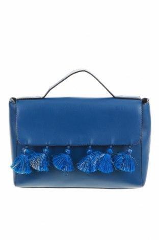 Geantă de femei Venca, Culoare Albastru, Piele ecologică, Preț 69,08 Lei