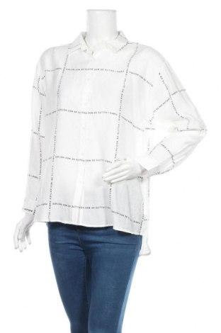 Γυναικείο πουκάμισο La Morena, Μέγεθος L, Χρώμα Λευκό, Πολυεστέρας, Τιμή 8,34€