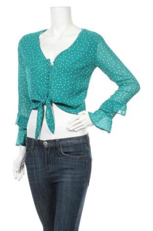 Дамска риза Bardot, Размер S, Цвят Зелен, Полиестер, Цена 22,05лв.