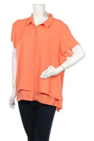 Γυναικείο πουκάμισο Suzanne Grae, Μέγεθος XL, Χρώμα Πορτοκαλί, Πολυεστέρας, Τιμή 8,83€