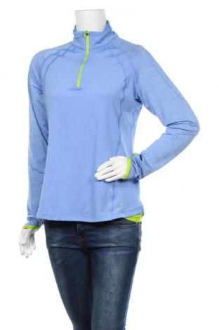 Дамска спортна блуза Active By Tchibo, Размер M, Цвят Син, 88% полиестер, 12% еластан, Цена 14,28лв.