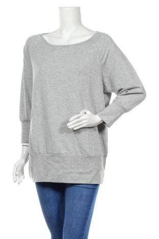 Дамска спортна блуза Active By Tchibo, Размер L, Цвят Сив, 63% полиестер, 32% вискоза, 5% еластан, Цена 9,98лв.