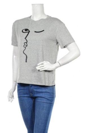 Дамска тениска SHEIN, Размер M, Цвят Сив, 5% еластан, 95% памук, Цена 7,09лв.