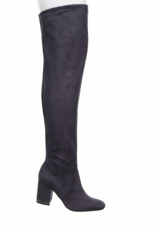Γυναικείες μπότες Calvin Klein, Μέγεθος 37, Χρώμα Μπλέ, Κλωστοϋφαντουργικά προϊόντα, Τιμή 55,11€