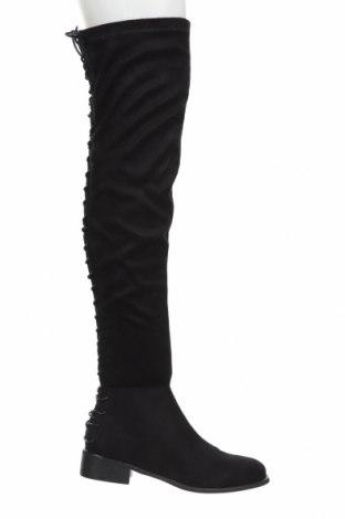 Дамски ботуши Exe, Размер 39, Цвят Черен, Текстил, Цена 45,41лв.