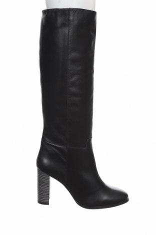 Дамски ботуши Lab, Размер 42, Цвят Черен, Естествена кожа, Цена 134,55лв.