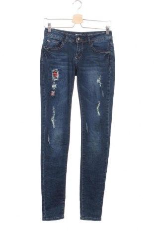 Дамски дънки G-Smack, Размер XS, Цвят Син, 70% памук, 28% полиестер, 2% еластан, Цена 8,19лв.