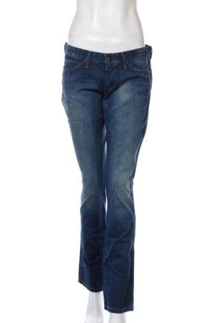 Дамски дънки Wrangler, Размер L, Цвят Син, Памук, Цена 42,72лв.