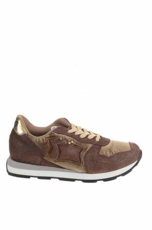 Дамски обувки Atlantic stars, Размер 39, Цвят Кафяв, Естествен велур, текстил, Цена 89,70лв.