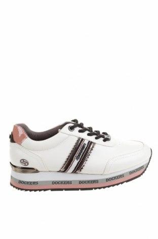 Дамски обувки Dockers by Gerli, Размер 37, Цвят Бял, Еко кожа, Цена 27,90лв.