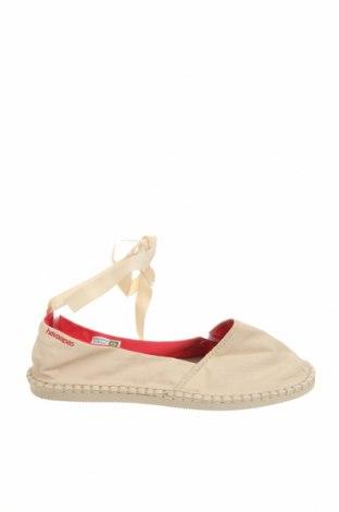 Дамски обувки Havaianas, Размер 40, Цвят Екрю, Текстил, Цена 23,60лв.
