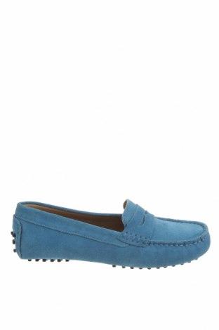 Дамски обувки John Scott, Размер 38, Цвят Син, Естествен велур, Цена 41,65лв.
