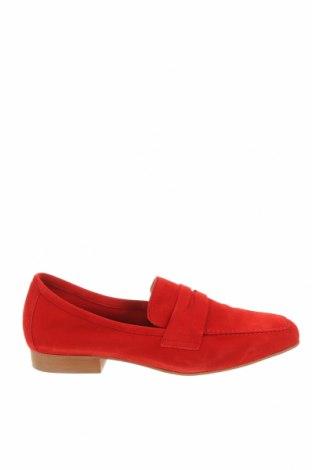 Дамски обувки Perlato, Размер 38, Цвят Червен, Естествен велур, Цена 89,55лв.