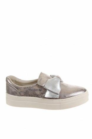 Дамски обувки Pier One, Размер 40, Цвят Сребрист, Естествена кожа, Цена 57,12лв.