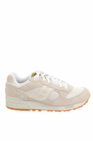 Дамски обувки Saucony, Размер 40, Цвят Бежов, Естествен велур, еко кожа, текстил, Цена 96,75лв.