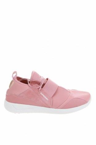 Дамски обувки Superdry, Размер 41, Цвят Розов, Естествен велур, текстил, Цена 39,27лв.