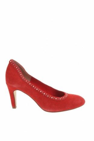 Дамски обувки Tamaris, Размер 38, Цвят Червен, Естествен велур, Цена 61,92лв.
