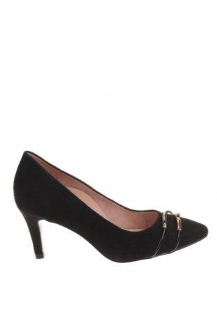 Дамски обувки Tamaris, Размер 36, Цвят Черен, Естествен велур, Цена 61,92лв.
