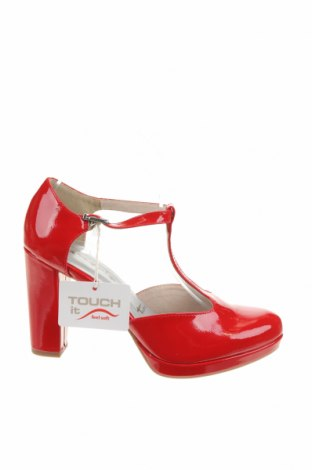 Дамски обувки Tamaris, Размер 38, Цвят Червен, Еко кожа, Цена 44,50лв.