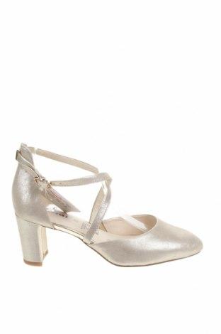 Дамски обувки Tamaris, Размер 38, Цвят Сребрист, Естествена кожа, Цена 70,95лв.