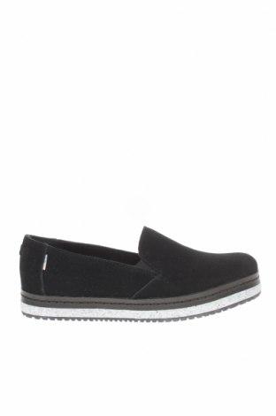 Дамски обувки Toms, Размер 37, Цвят Черен, Естествен велур, Цена 49,02лв.