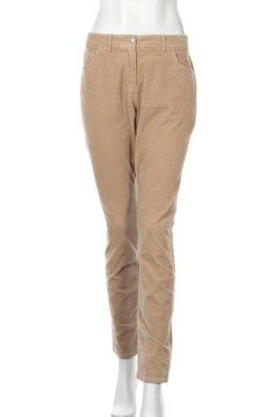 Дамски панталон, Размер M, Цвят Бежов, 98% памук, 2% еластан, Цена 8,97лв.