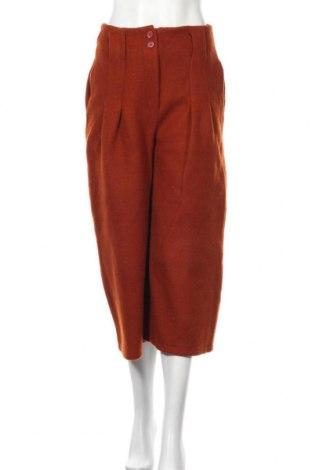 Дамски панталон, Размер S, Цвят Кафяв, 97% полиестер, 3% вълна, Цена 19,11лв.