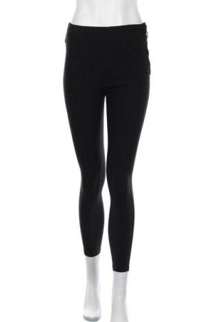 Дамски панталон Bershka, Размер S, Цвят Черен, 77% вискоза, 20% полиамид, 3% еластан, Цена 39,00лв.