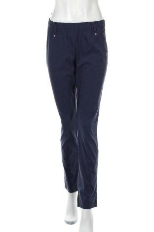Дамски панталон Bpc Bonprix Collection, Размер M, Цвят Син, 71% вискоза, 25% полиамид, 4% еластан, Цена 10,29лв.