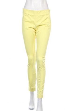 Дамски панталон Bruuns Bazaar, Размер M, Цвят Жълт, 97% памук, 3% еластан, Цена 13,52лв.