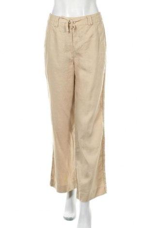 Дамски панталон Canda, Размер S, Цвят Бежов, Лен, Цена 5,86лв.
