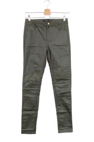 Дамски панталон Cortefiel, Размер S, Цвят Зелен, 73% вискоза, 23% полиамид, 4% еластан, Цена 19,48лв.
