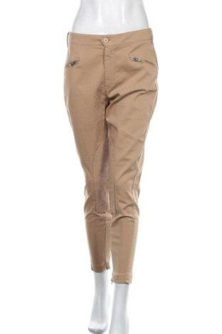 Дамски панталон Dondup, Размер L, Цвят Бежов, 98% памук, 2% еластан, Цена 60,11лв.