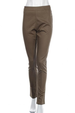 Дамски панталон Free Quent, Размер L, Цвят Зелен, 76% памук, 22% полиестер, 2% еластан, Цена 28,98лв.