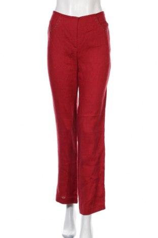 Дамски панталон Georges Rech, Размер M, Цвят Червен, Лен, Цена 51,75лв.