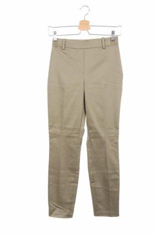 Дамски панталон H&M, Размер XS, Цвят Зелен, 61% памук, 36% полиестер, 3% еластан, Цена 6,90лв.